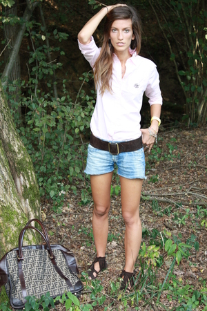 Ralph Lauren shirt - vintage shorts - vintage belt - Seven7 shoes - Fendi purse