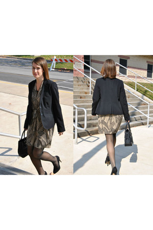 piperlime dress - black kohls blazer