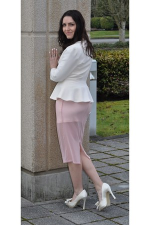 light pink sheer skirt