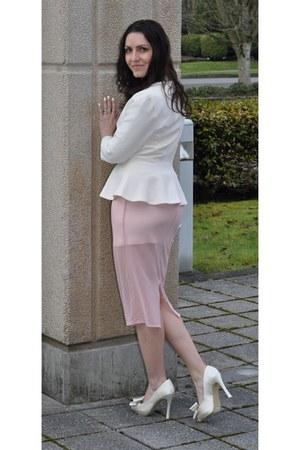 light pink sheer skirt