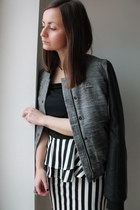 Bershka jacket - Tally Weijl skirt - intimissimi top