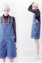 blue dungaree shorts Mind the Mustard shorts