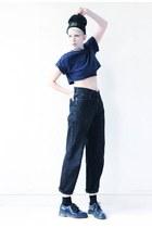 black denim Lee jeans