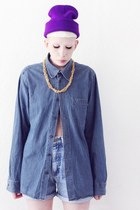 DARK DENIM SHIRT