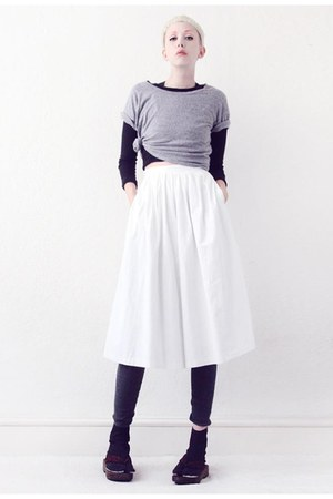white culottes Mind the Mustard pants