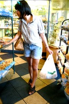 urbn accessories - forever 21 blouse - Levis shorts - Urban Outfitters shoes - A
