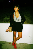 the gap sweater - Silence & Noise shorts - James Perse t-shirt - dooney & burke