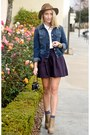 Navy-denim-jacket-current-elliot-jacket-deep-purple-h-m-skirt