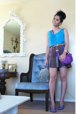 miss sixy jacket - deep purple vintage Fendi bag - violet fetilo Christian Loubo