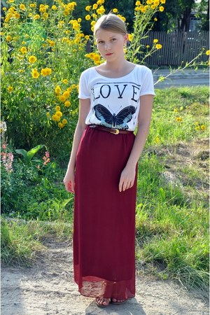 skirt - Stradivarius t-shirt
