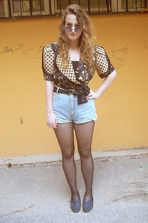 textile house blouse - DIY shorts