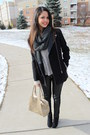 Black-target-boots-black-patent-leather-h-m-coat