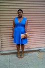 Blue-twist-dress