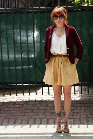 forever 21 skirt - BR top - dr scholls -
