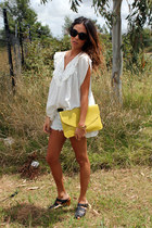One Teaspoon shorts - Sportsgirl bag - The Story Of blouse - Michael Kors watch