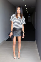 all about eve skirt - Bassike t-shirt - tony bianco heels