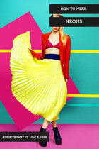 WAYS TO WEAR NEON COLORS