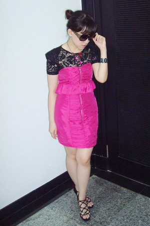 pink Forever21 dress - black Mango top - pink Dorothy Perkins necklace - black r