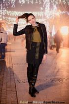 Tally Weijl boots - PERSUNMALL jacket - Choies t-shirt - MCM skirt