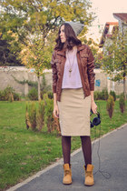 brown Colors of the World jacket - mustard Benvenuti boots