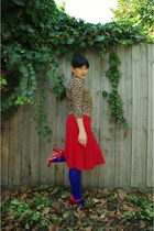 columbine tights - Leona Edmiston dress - Wittner pumps - basque cardigan