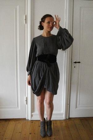vintage from Ebay dress - H&M belt - Toklum boots