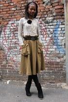 Diane Von Furstenberg shirt - H&M skirt - H&M necklace