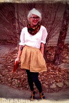 Forever 21 skirt - Urban Outfitters tights - Francescas Collections purse