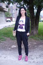 H&M accessories - Zara blazer - H&M purse - DIY shirt - Ebay shoes - Zara pants