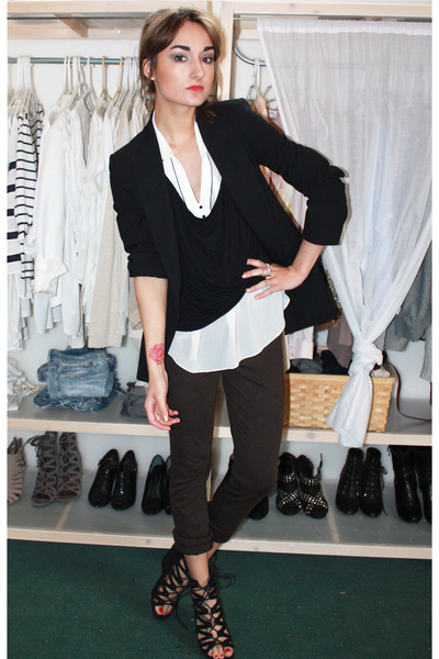 Zara blazer - Zara blouse - Aldo shoes