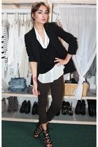 Zara blazer - Zara blouse - Aldo shoes