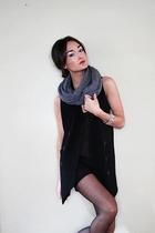 H&M scarf - Nordstroms vest - Noir bracelet - DIY tights - needsupply shirt - Za