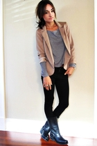 SilenceNoise blazer - Talula top - Forever21 pants - harley boots