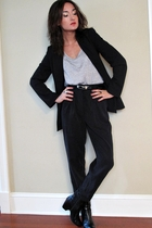 Zara blazer - SilenceNoise shirt - wilfred pants - we who see boots - vintage be