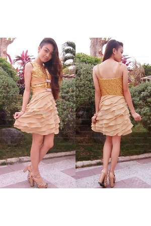 gold edressycom dress