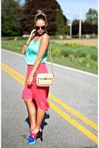 Jessica Simpson heels - Rebecca Minkoff bag