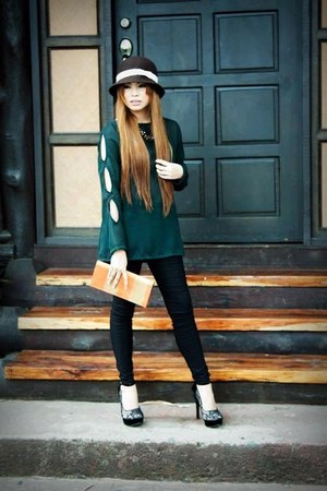 green Forever 21 blouse - green unknown blouse