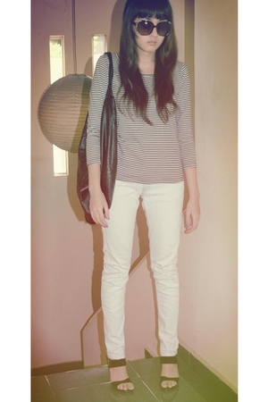 Urbie store shirt - Zara jeans - Forever21 - Vincci shoes - Mango