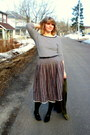 Army-green-thrifted-jacket-cream-joe-fresh-style-top-navy-vintage-skirt-bl