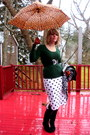 Forest-green-old-navy-sweater-white-vintage-skirt-black-sirens-belt-silver