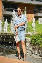 Ksubi skirt - Gap shirt - kate spade bag - Ray Ban sunglasses - Zara heels