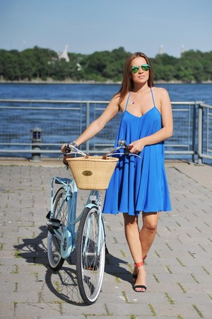 blue asoscom dress