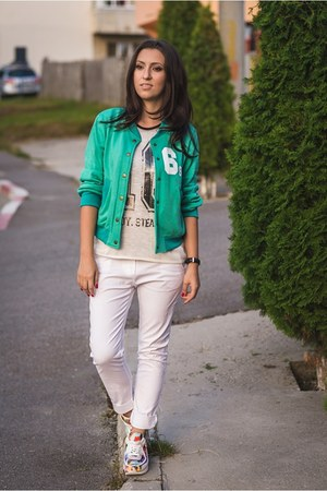 turquoise blue abaday jacket - Choies shoes