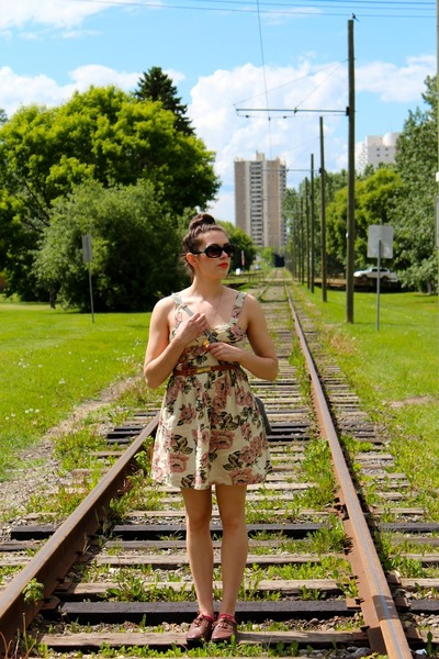 Urban Outfitters dress - vintage purse - gifted loafers - VintageDIY necklace
