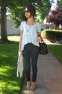 Blue-abercrombie-fitch-top-blue-wax-jeans-beige-forever-21-shoes-black-s
