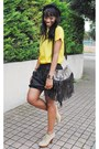 Crimson-clutch-zara-bag-yellow-top-zara-woman-top-black-skirt-asos-skirt