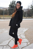 carrot orange Sneakers Ash sneakers - black Faux Fur Coat coat
