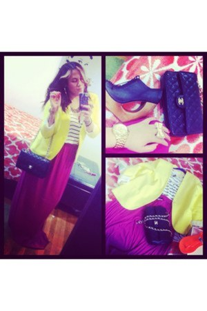 H&M blazer - Chanel bag - Mali Romeo skirt - H&M blouse