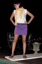 express via goodwill skirt - Gap scarf - Hanes t-shirt