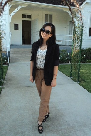 thrifted Patrick James blazer - banana republic blouse - H&M pants